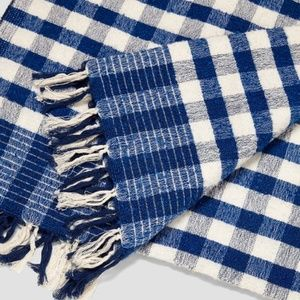 NWT Zara Checked Jacquard Blanket Scarf